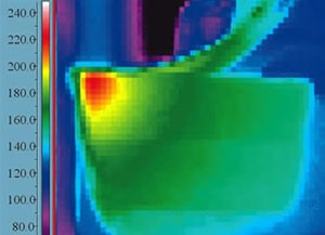 Full-field infrared digital thermography in wet machining