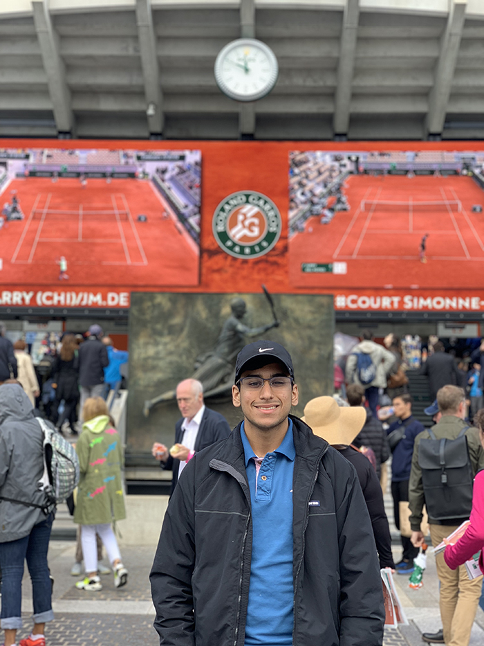 Ajay at the French Open