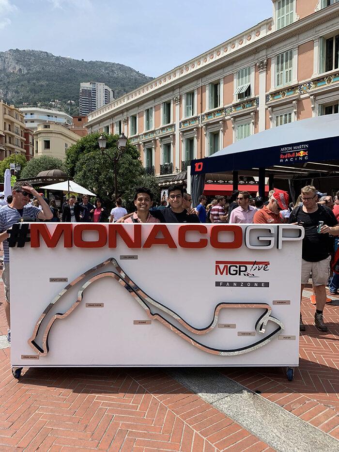 Ajay at the Monaco Grand Prix