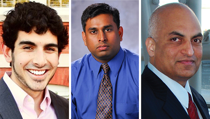 Graduate student Matthew C. Barry, Associate Professor Satish Kumar and Professor Surya R. Kalidindi