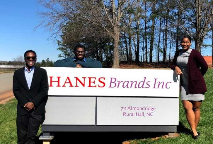 Team Braject at Hanes Factory sign