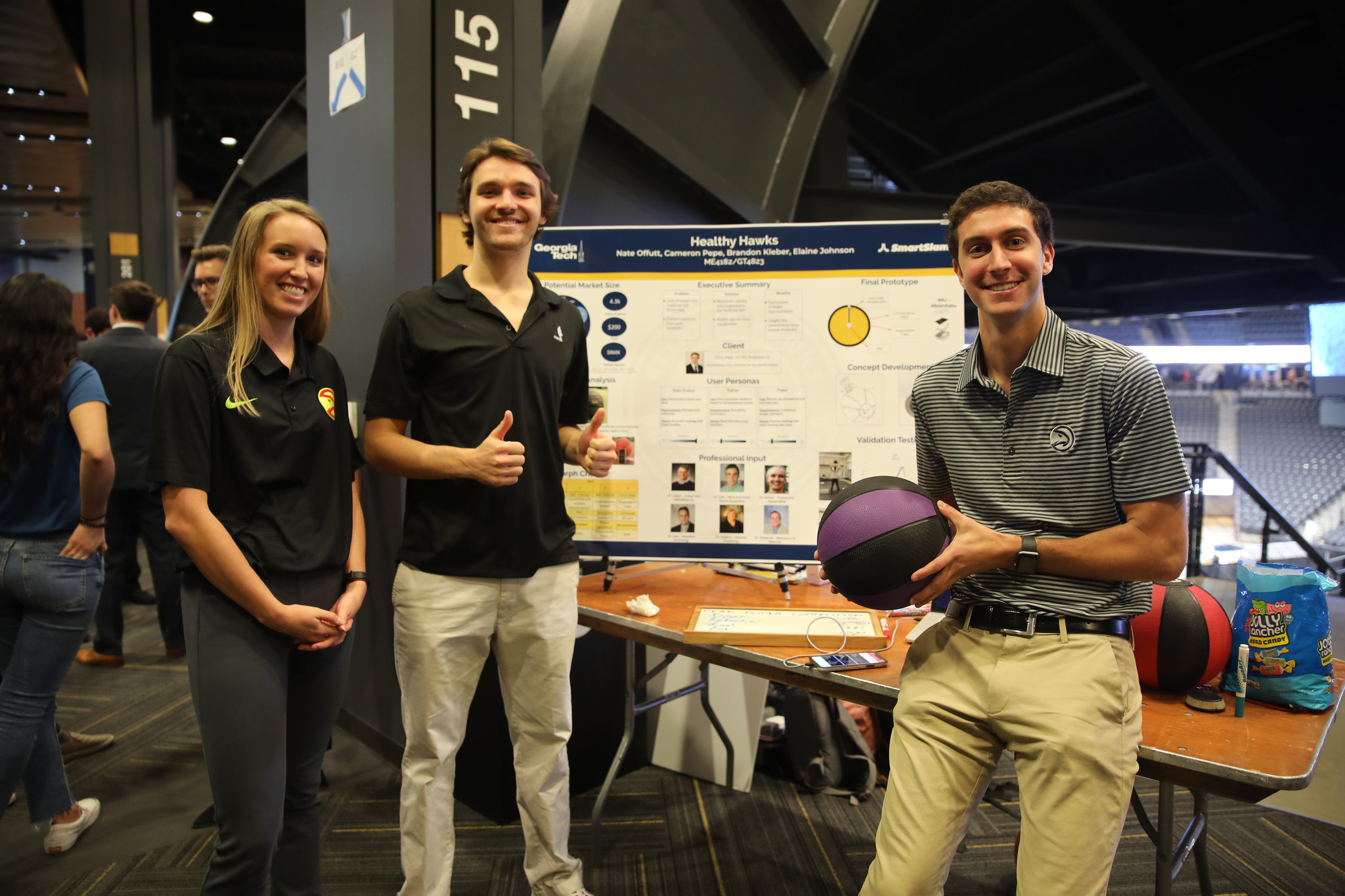 HealthySlam with their redesigned smart medicine ball