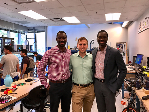 Inventaprint Team - Georgia Tech Tour (L-R Richard Mokuolu_Chris Maltzan_Roland Mokuolu)