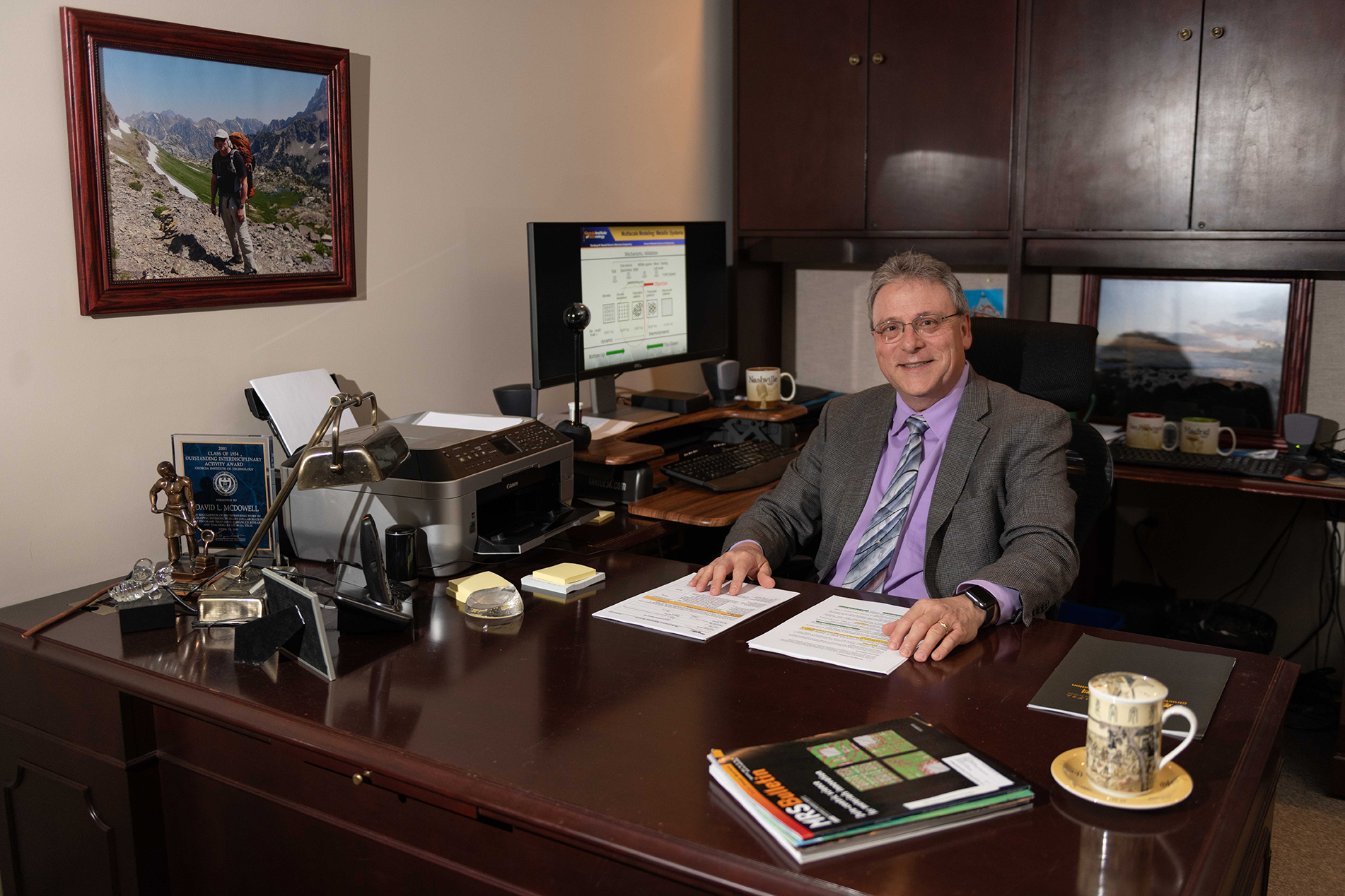 McDowell in his office at the Renewable Bioproducts Institute.