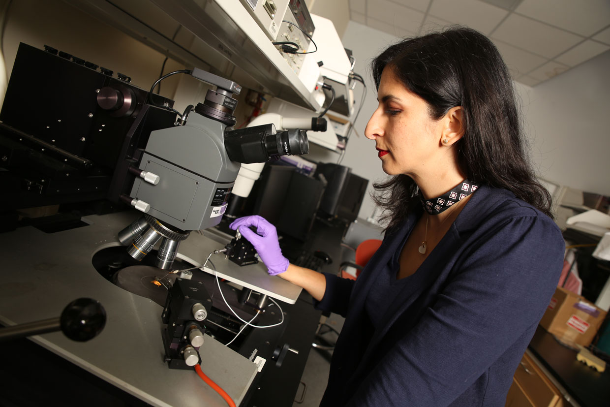 Senior Member Nazanin Bassiri-Gharb is the director of the Smart Materials' Advanced Research and Technology (SMART) Lab at Georgia Tech.