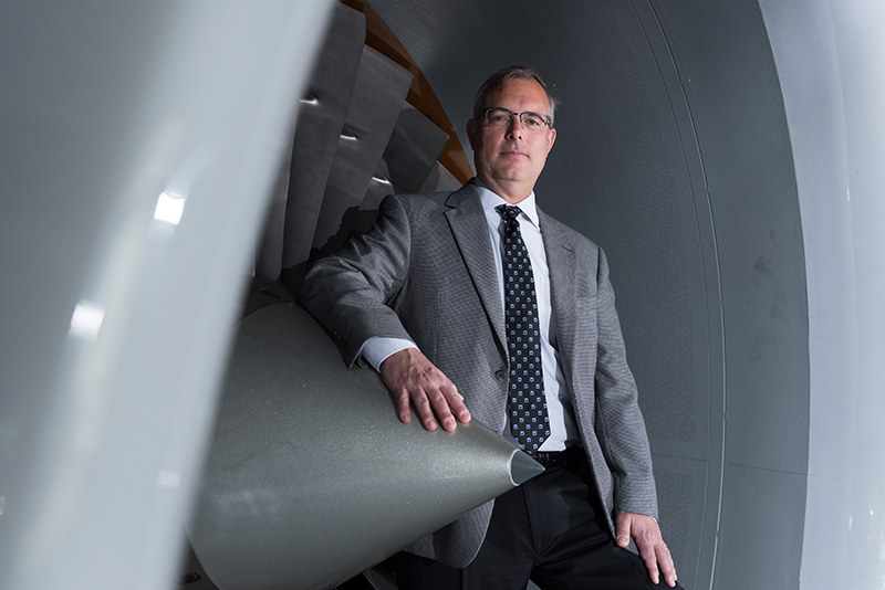 Rick Neu Standing in Jet Engine
