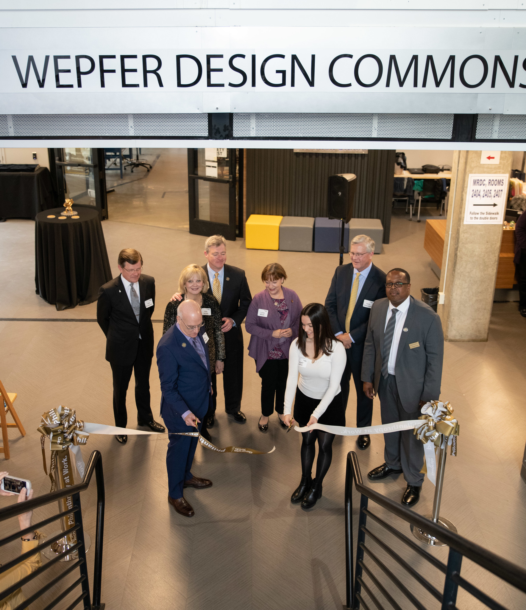 Wepfer Design Commons Dedication- Ribbon Cutting