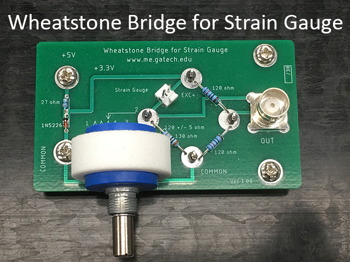 Wheatstone Bridge for Strain Gauge