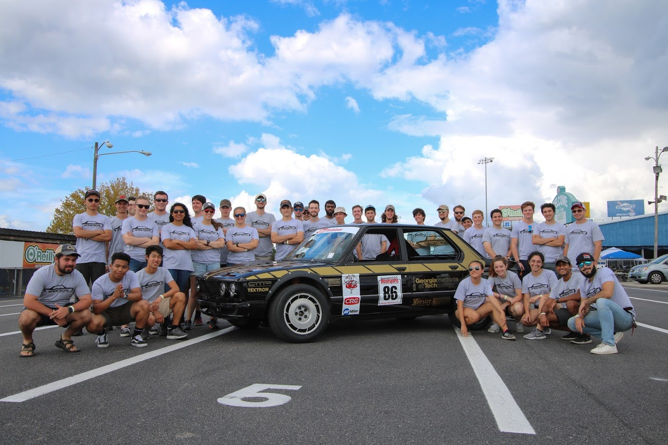 The Team with their car