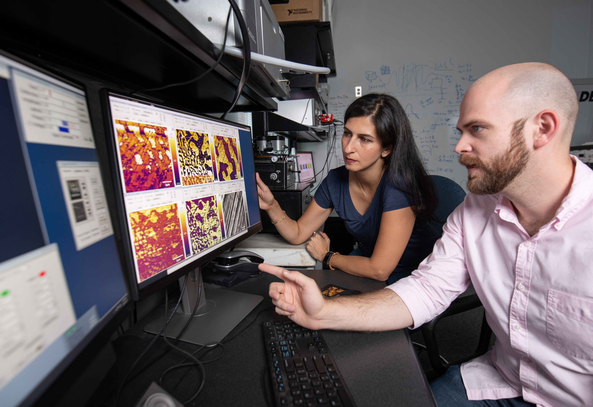 Professor Nazanin Bassiri-Gharb and Ph.D. Candidate Lee Griffin
