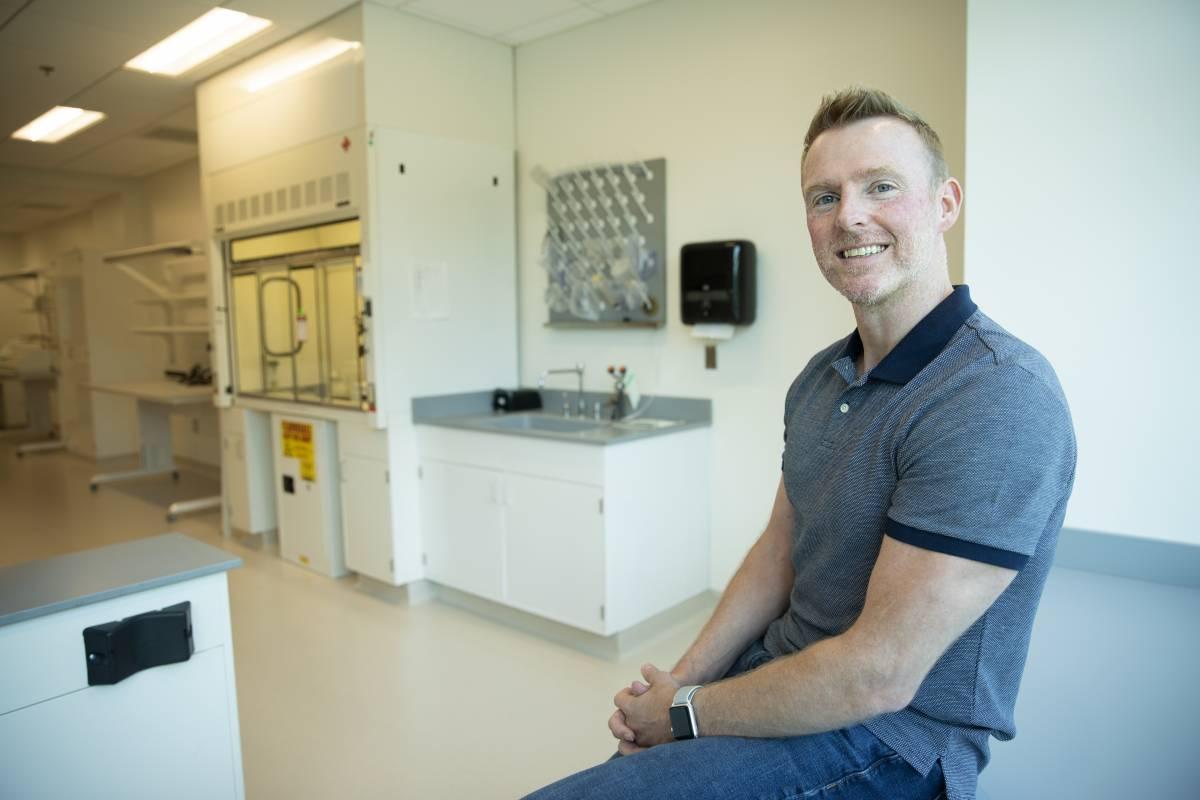 David Frakes in his empty lab