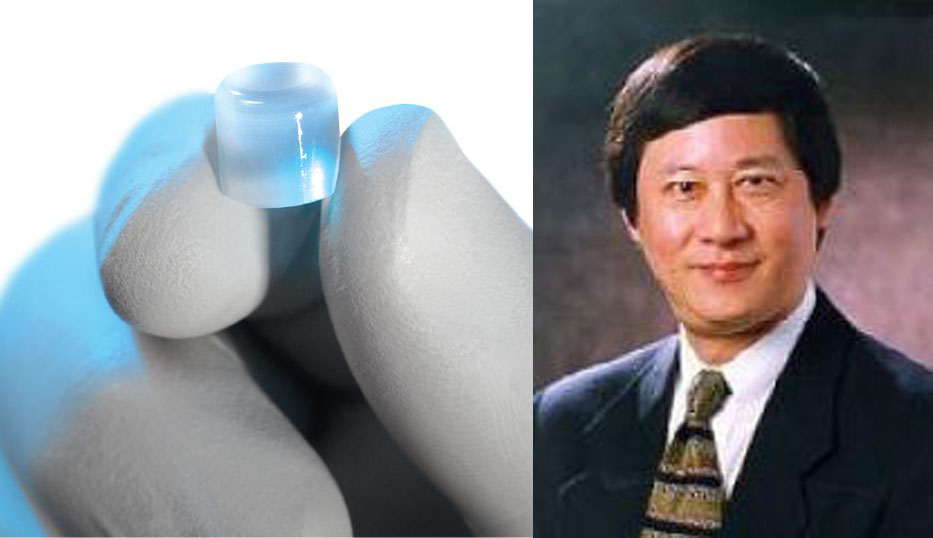 Woodruff School Professor David Ku and synthetic cartilage