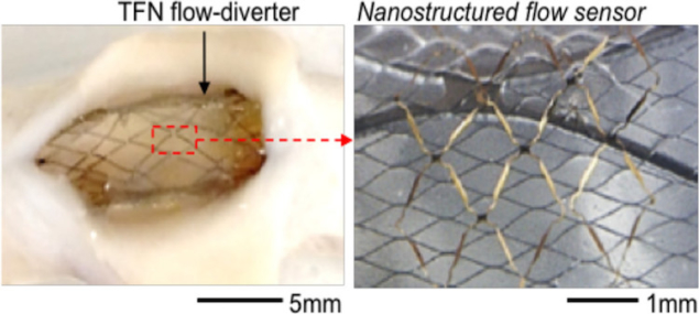 Nanostructured flow-diverter system